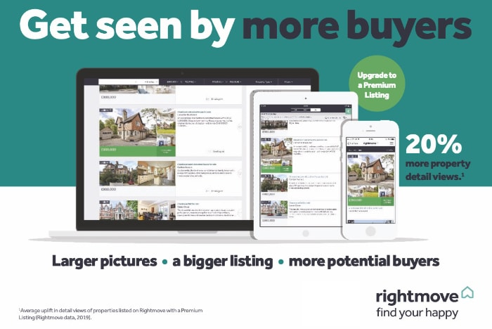 Stand out from the crowd with a larger, bolder listing. Your property will feature on all three leading property websites - Rightmove, Zoopla, and Prime Location Premium portal listing
